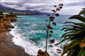 View over the bay of Nerja